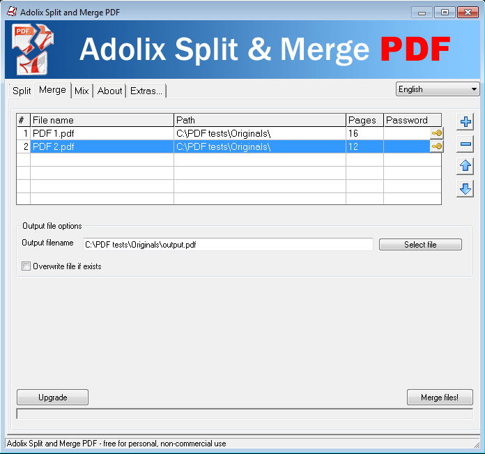 Adolix Split and Merge