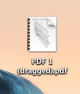 PDF preview dragging pages result