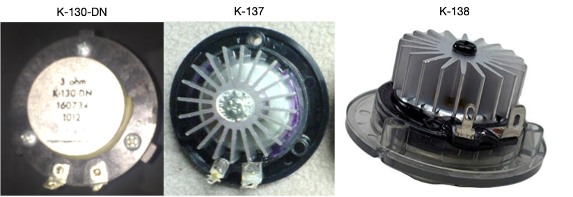 Klipsch Tweeter comparison K-130-DN K137 K-138